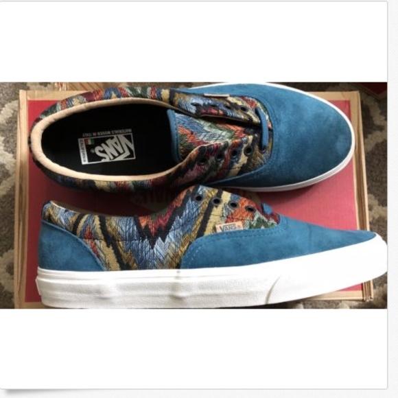 e711f8b891 Vans Era Italian Weave Pig Suede Atlantic Dp Shoes